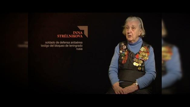 """TESTIGOS DE LA GUERRA"". Inna Strélnikova : Soldado de  defensa antiaérea. Rusia"