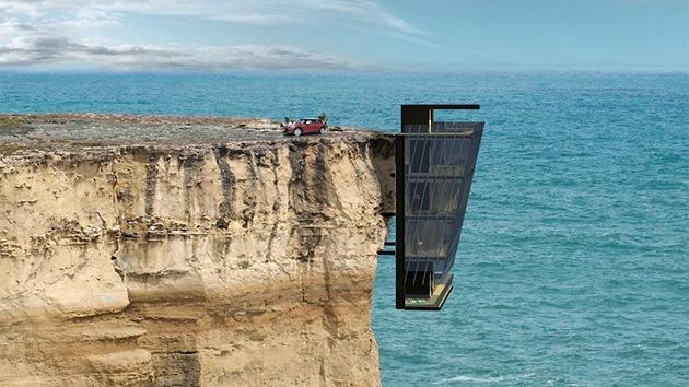Fotos: ¿Se arriesgaría a vivir en una casa colgada de un acantilado?