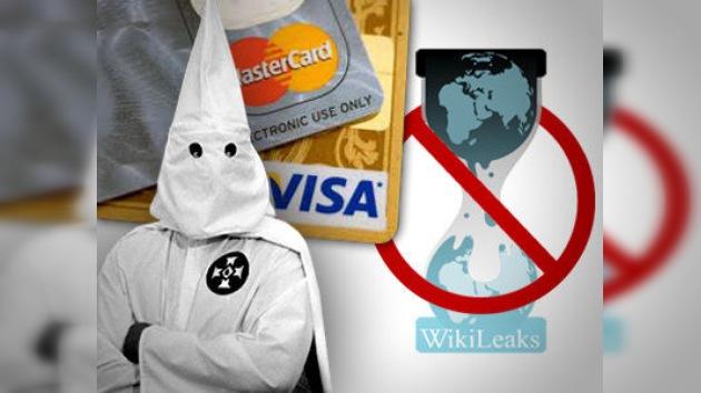 Visa y MasterCard bloquean a WikiLeaks, pero aceptan pagos para el Ku Klux Klan