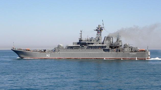 Rusia envía buques de guerra al Mediterráneo