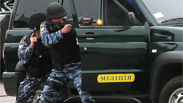 Video: Ejercicios antiterroristas en la embajada israelí en Kiev