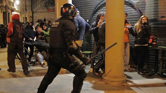 Siete periodistas heridos por policías mientras cubrían una manifestación en Madrid