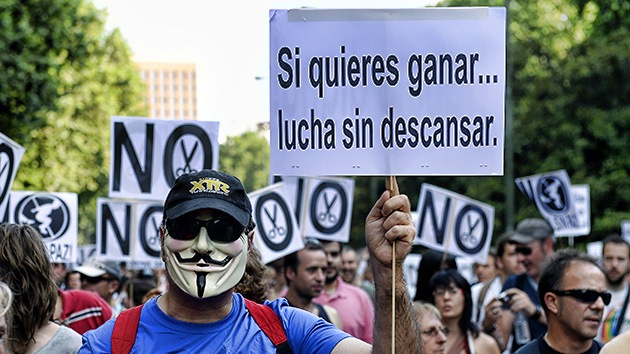 FOTOS: Los parados se mueven en Madrid