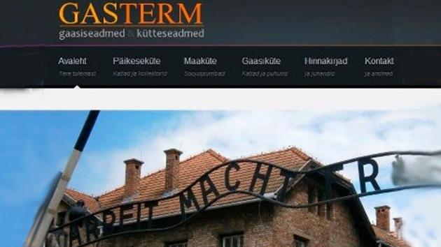 Una empresa de Estonia hace publicidad con fotos de Auschwitz