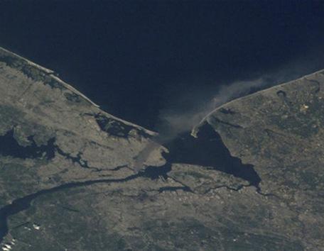 El 11-S, visto por un astronauta desde el espacio