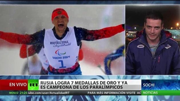 Rusia logra 7 oros más y ya lidera el medallero de los Juegos Paralímpicos de Sochi
