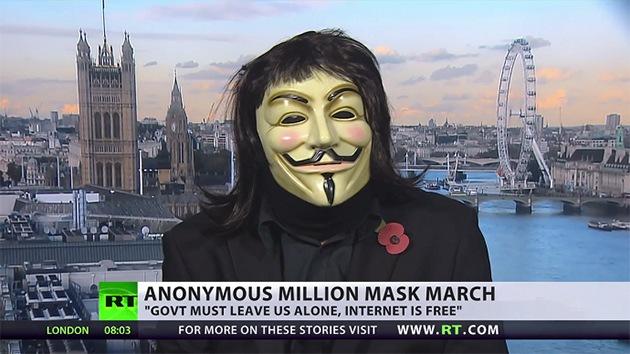 """Anonymous a RT: """"Internet es capaz de hacer caer regímenes"""""""