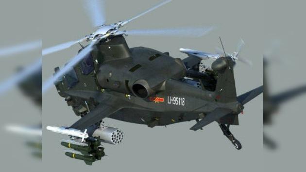 China airea las primeras fotos de su nuevo helicóptero WZ-10 armado con misiles antitanque