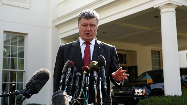 """Poroshenko: Occidente nos ha dado toda """"la técnica de reconocimiento"""" que necesitamos"""