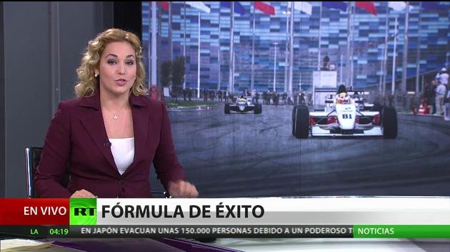 Los pilotos se disputan el Gran Premio de Rusia de Fórmula 1 en Sochi