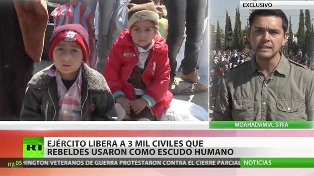 RT en Siria: Liberan a 3.000 civiles usados por rebeldes como escudo humano