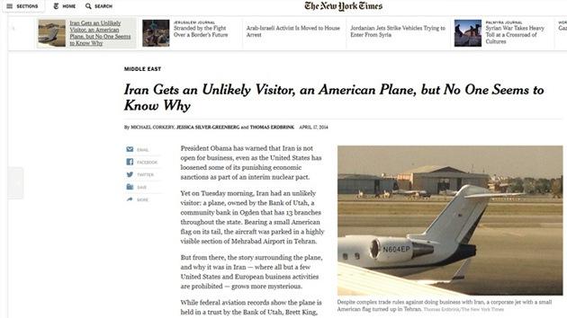 Irán aclara el misterio del avión estadounidense en el aeropuerto de Teherán