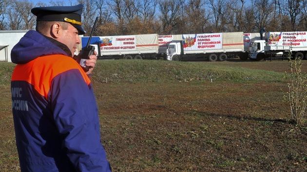 El quinto convoy de ayuda humanitaria rusa llega al este de Ucrania