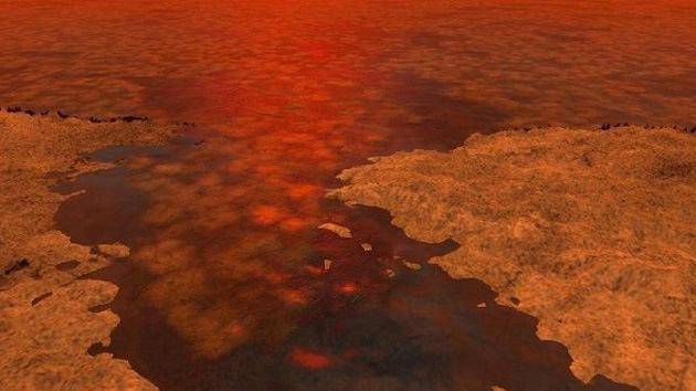 La NASA halla hielo flotante en mares y lagos de Titán