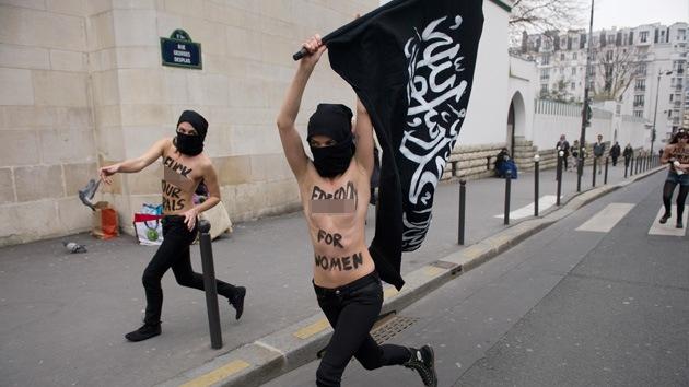 Fotos: Femen celebra una 'yihad topless' mundial contra el islam