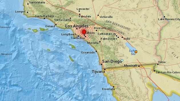 Un sismo de magnitud 5,3 sacude Los Ángeles