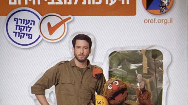 Un muñeco de la tele explica a los israelíes cómo protegerse tras un ataque a Irán