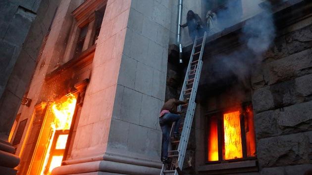 """Según un experto en emergencias, """"el humo no causó las muertes en Odesa"""""""