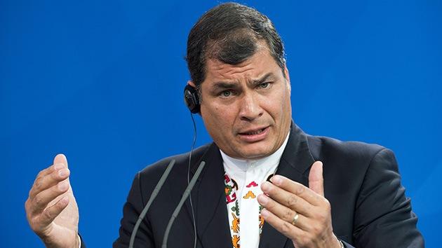 Correa alerta de un plan de la derecha para deslegitimar al Gobierno de Venezuela