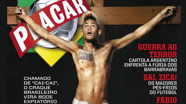 La Iglesia Católica brasileña condena el montaje de 'Neymar crucificado'