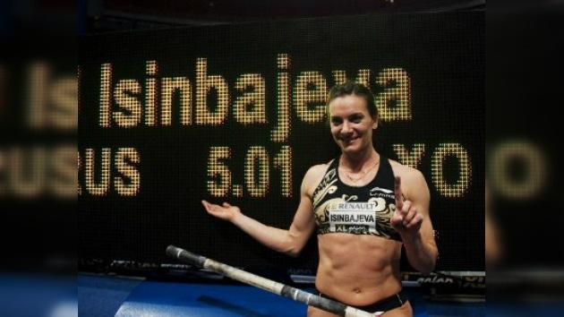 Isinbáyeva establece su récord mundial número 28