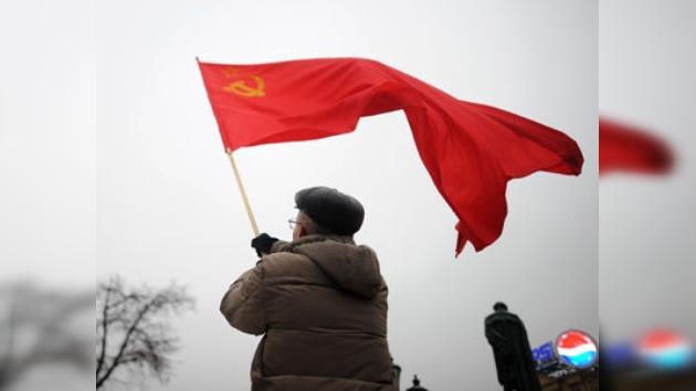 Protesta comunista en Moscú contra la base de la OTAN en la ciudad de Lenin