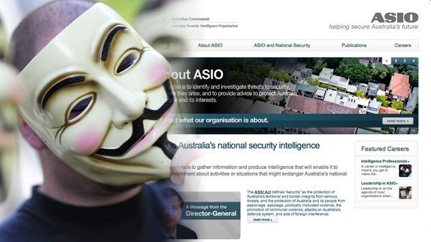 Anonymous ataca al servicio de inteligencia australiano