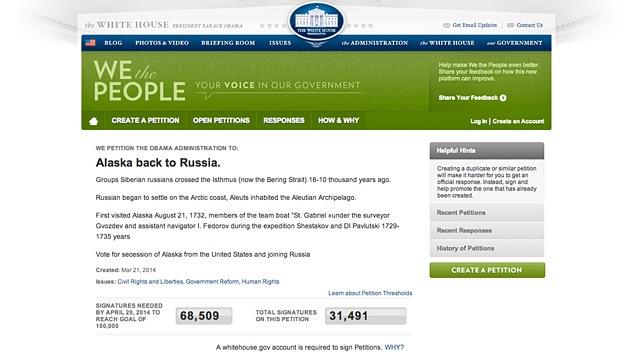 Más de 30.000 estadounidenses quieren que Alaska se reincorpore a Rusia