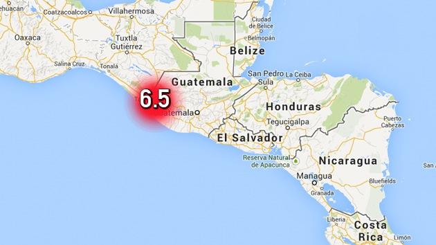 Un fuerte terremoto de magnitud 6,5 se registra en Guatemala