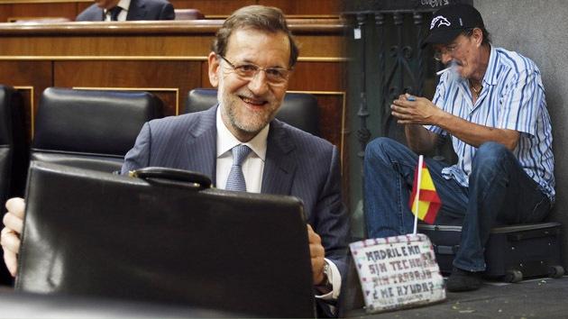 """Una joven a Rajoy: """"Has empobrecido España, ¿cómo puedes dormir por las noches?"""""""