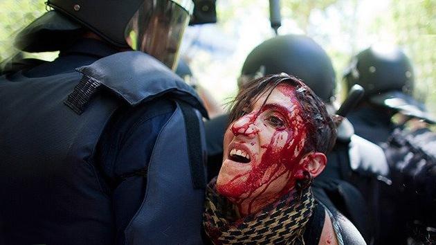 España: carga policial contra los mineros que protestan en Madrid deja varios heridos