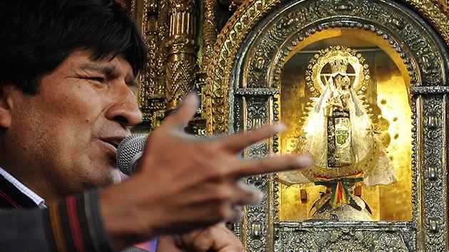 """Morales achaca a """"algunos obispos"""" la ola de hurtos en las iglesias de Bolivia"""