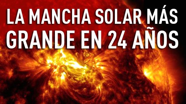 Video: Impresionantes llamaradas de la mancha solar más grande desde 1990