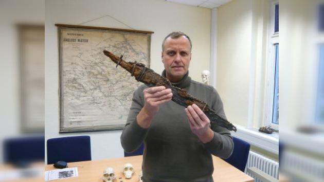 En Alemania encuentran la espada de un guerrero franco del siglo VII a.C.