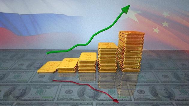 Muralla ruso-china de oro frente al dólar