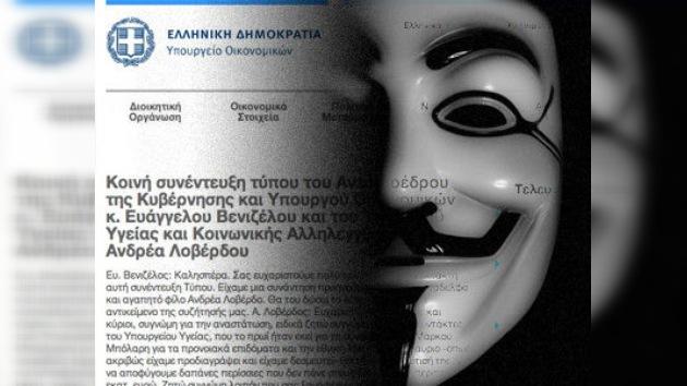 """Anonymous ataca la web del Ministerio de Justicia griego y amenaza: """"Solo es el comienzo"""""""