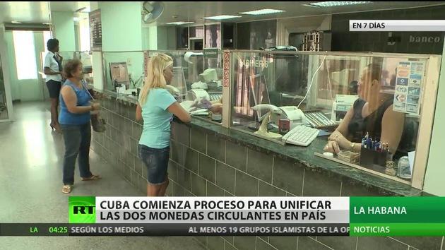 Cuba inicia el proceso para unificar las dos monedas circulantes en el país