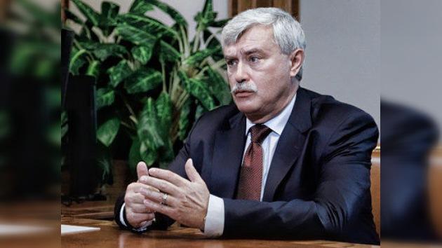 Gueorgui Poltávchenko, nuevo gobernador de San Petersburgo
