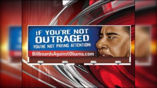 "Carteles contra el ""socialismo de Barack Obama"""