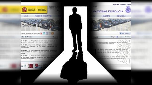 'Abordaje' informático contra la web de la policía española