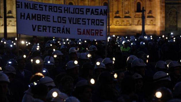 Mineros extranjeros visitan Asturias para apoyar la huelga de sus colegas españoles