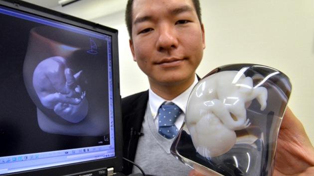 Conozca a su futuro bebé: crean un modelo 3D del feto de tamaño natural