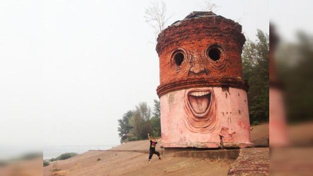 Paredes vivientes: un pintor ruso usa los edificios como lienzo
