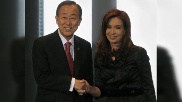 Argentina reclama la soberanía de las Malvinas ante Ban Ki-moon