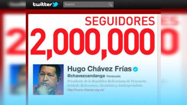 Hugo Chávez alcanza los dos millones de seguidores en Twitter y sigue sumando