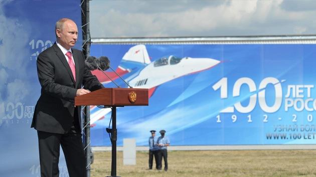 """Putin: """"Rusia contará con 1.600 aeronaves militares nuevas en 2020"""""""
