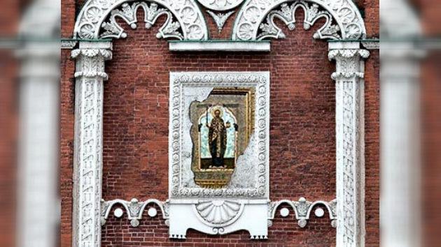 Encontrados iconos en los muros del Kremlin