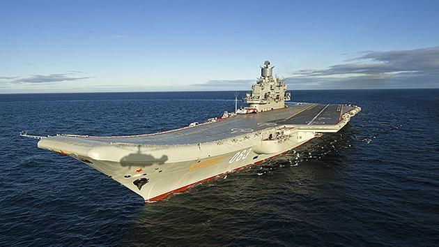Portaaviones ruso escoltará buque con armas químicas sirias