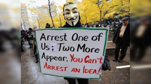 Los 'indignados' de Nueva York rompen el silencio de la desigualdad social