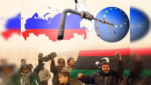 Gas ruso ayudará a Europa si la situación en el mundo árabe provoca escasez
